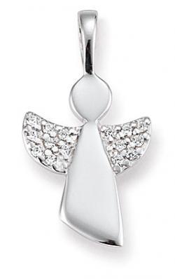 Damen-Anhänger, Palido 925 Silber Zirkonia weiss 16mm Engel