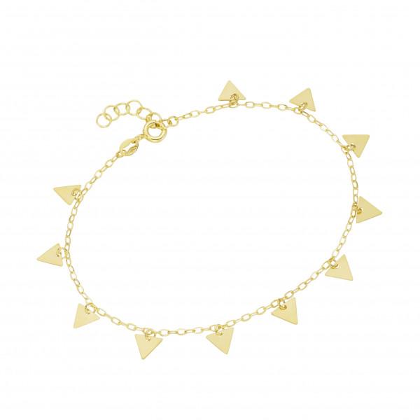 Da-lino Armband mit Dreiecken in 375 Gelbgold