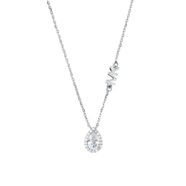 Michael Kors Damen Halskette 925er Silber Anhänger Tropfen
