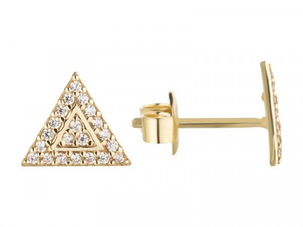Damen-Ohrringe, DALINO 333 Gold mit Zirkonia