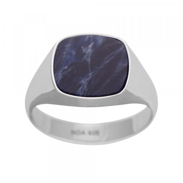 SON of NOA Herren-Ring Ring Silber mit Sodalith