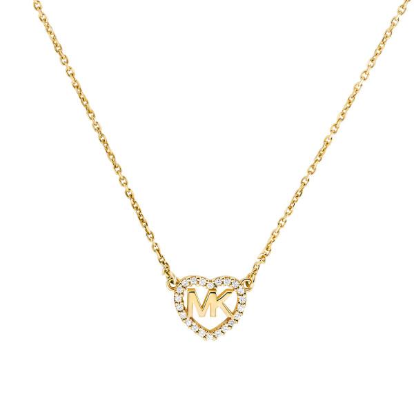 Michael Kors Damen Halskette vergoldet mit Herz Anhänger