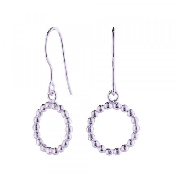 Nordahl Jewellery Damen-Ohrhänger Kreis aus Sterling Silber