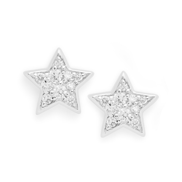 Fossil Damen Ohrstecker Glitz Star in 925er Sterling Silber