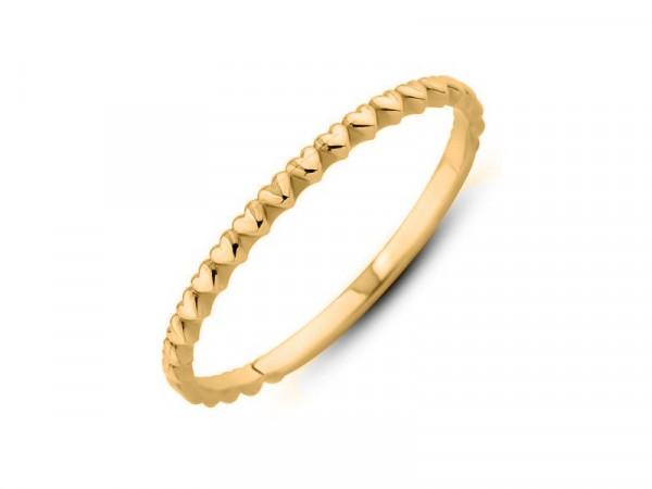 Damen-Ring, DALINO 375 Gold Vorsteckring mit Herzchen
