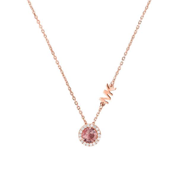 Michael Kors Damen Halskette mit Anhänger rosévergoldet