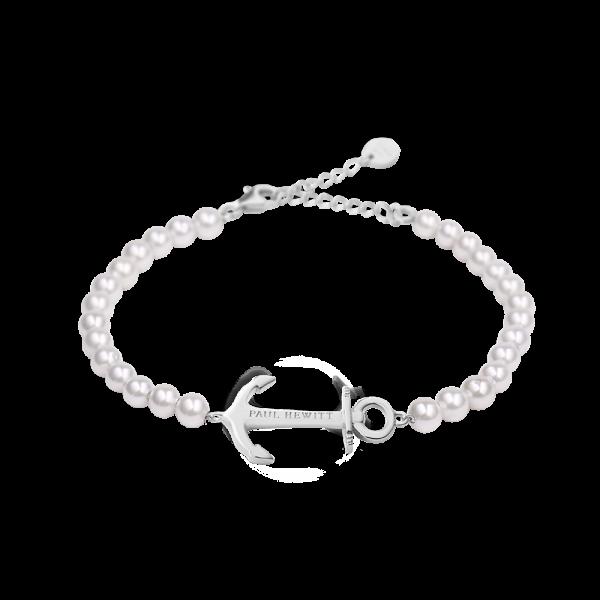 PAUL HEWITT Damen Armband Anchor Spirit In Silber mit weißen Perlen
