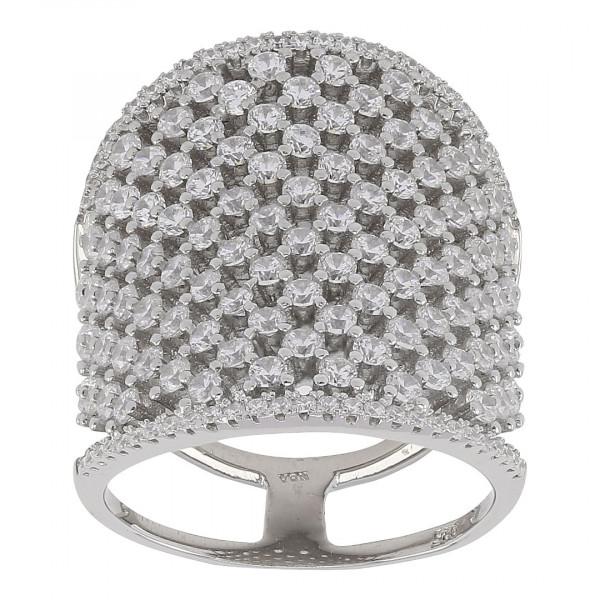 Joanli Nor Damenring Rhodinierter Silber Ring ALAINE 24mm