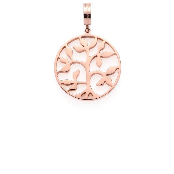 Leonardo Clip & Mix Damen Anhänger Cammin Baum in roségold