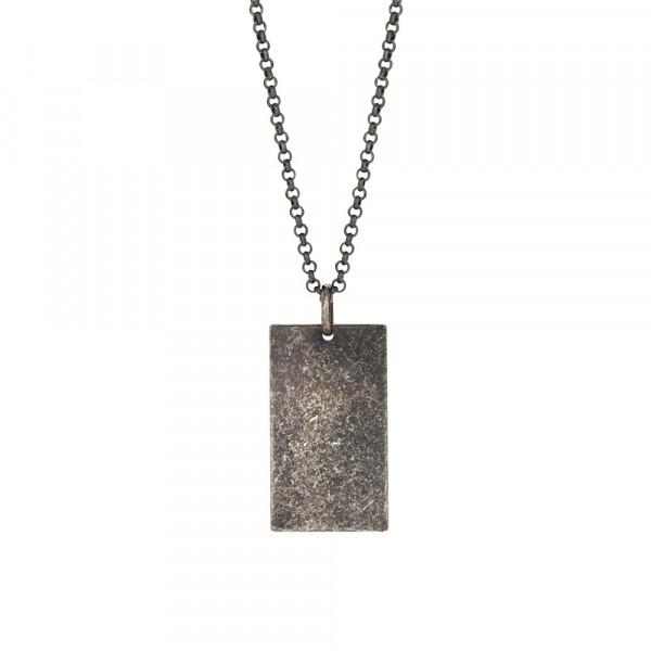 SON of NOA Herren-Halskette Halskette silber rhod. cracked