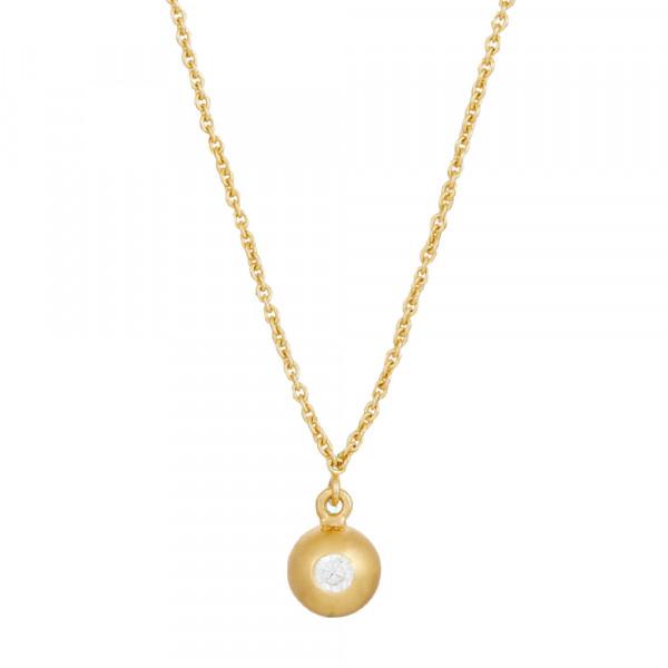 Vergoldete Silber Halskette LIGHT 6mm