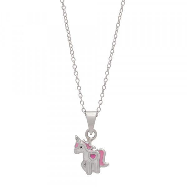 Einhorn Kinderhalskette Rhod. Silber Halskette