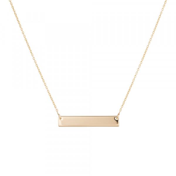 Vergoldete Silber Halskette Platte 40+5cm