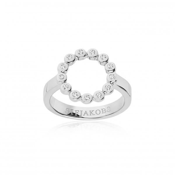 Sif Jakobs Ring Sardinien Circolo mit weißen Zirkonia SJ-R2688
