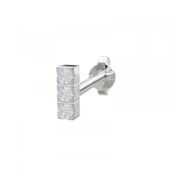 Rhd. Silber Ohrring PIERCE52