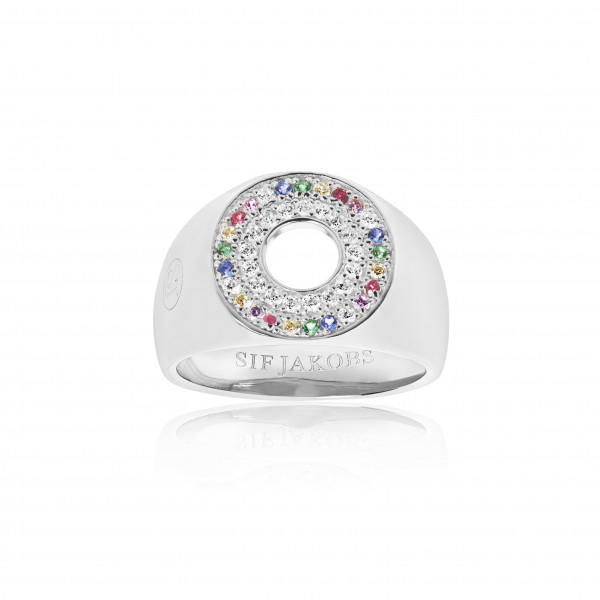 Damenring Signet Ring Valiano mit bunten Zirkonia SJ-R1048