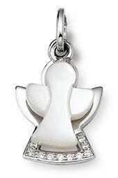 Damen-Anhänger, Palido 925 Silber Zirkonia perlmutt weiss Herz