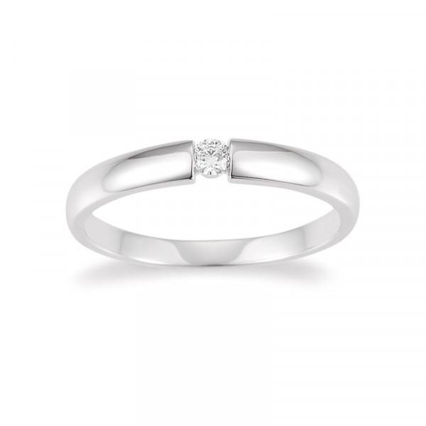 Palido Damen-Verlobungsring Verlobungsring 585 Weißgold mit 0,06 ct Brillant