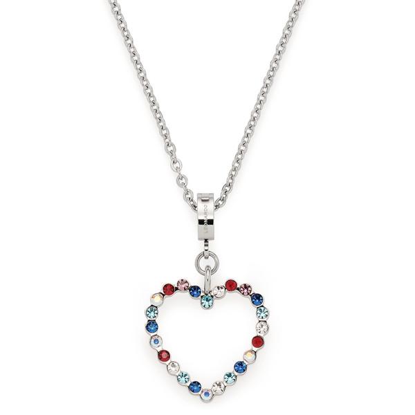 LEONARDO Damen Halskette Anna mit bunten Zirkonia Herz