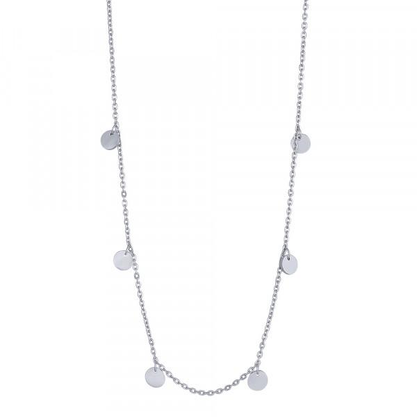 Rhd. Silber Halskette DISC52 5mm