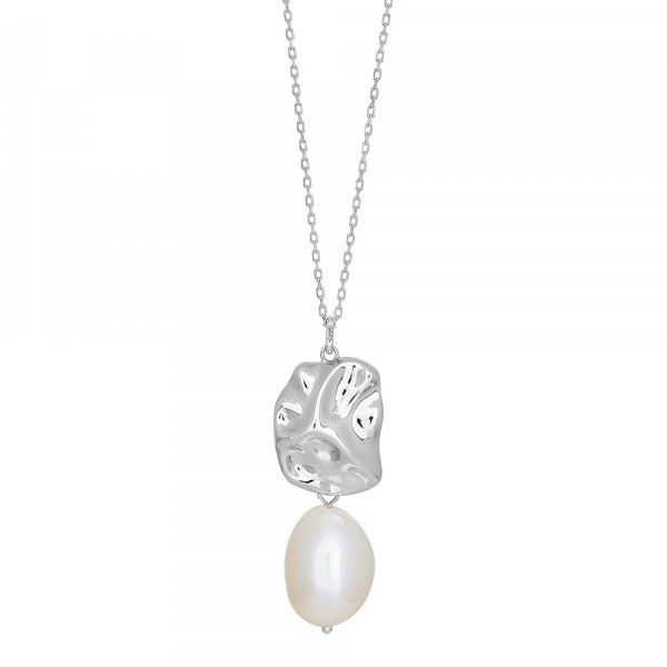 Damen-Halskette BAROQUE52 Süßwasser Perlen 60+10