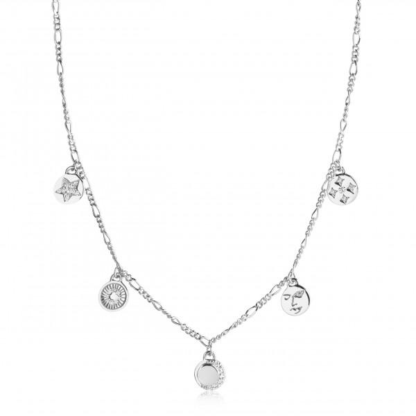 Sif Jakobs Damen Halskette Portofino mit weißen Zirkonia