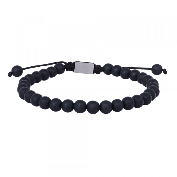 SON of NOA Herren-Armband Armband matt schwarzes Onyx 21cm