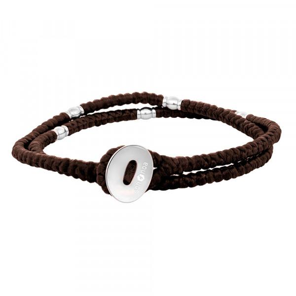 SON of NOA Herren-Armband Armband braune Kordel mit Stahl