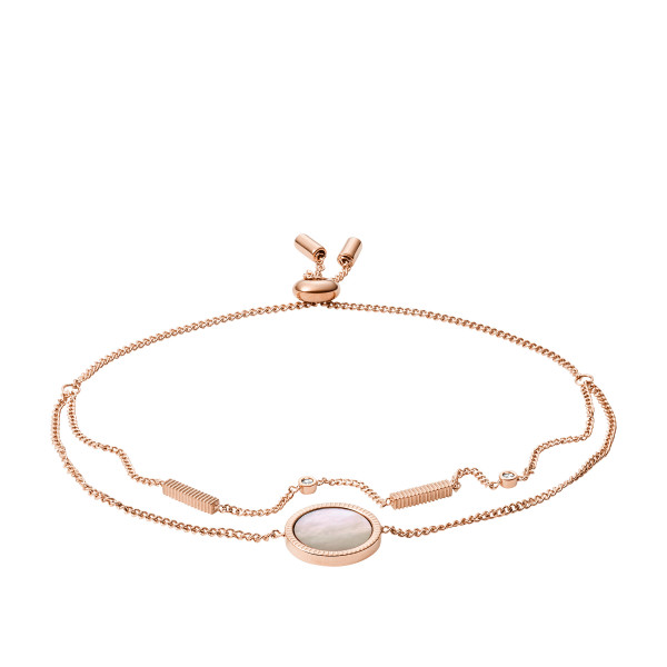 Fossil Damen Armband Vintage Iconic in Roségold mit Perlmutt