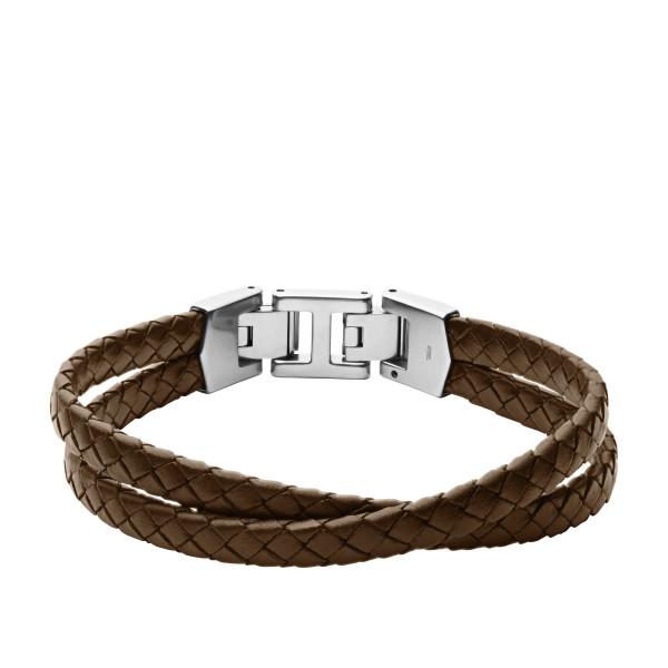 Fossil Herren Armband Essentials mehrsträngig Leder braun