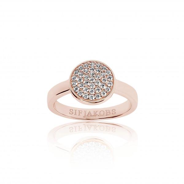 Sif Jakobs Ring Damen Sacile Uno 18K Rosévergoldet mit weissen Zirkonia