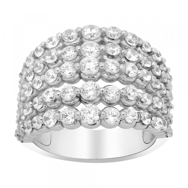 Joanli Nor Damenring Rhodinierter Silber Ring ALISON 16mm