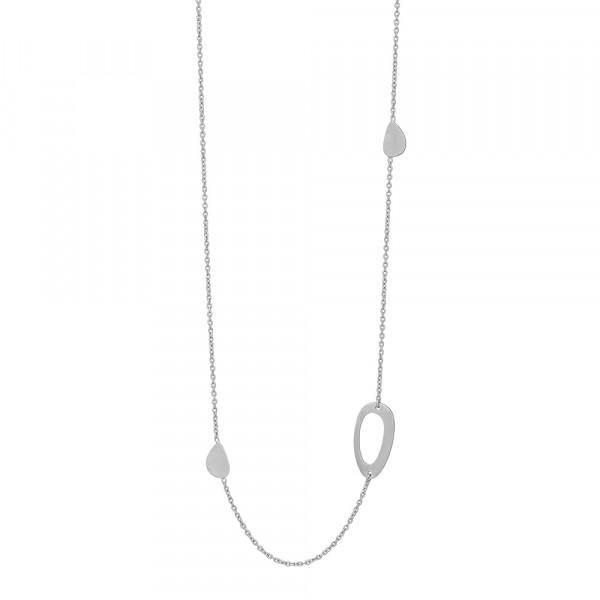 Rhd. Silber Halskette COMPOSED52 80+10cm