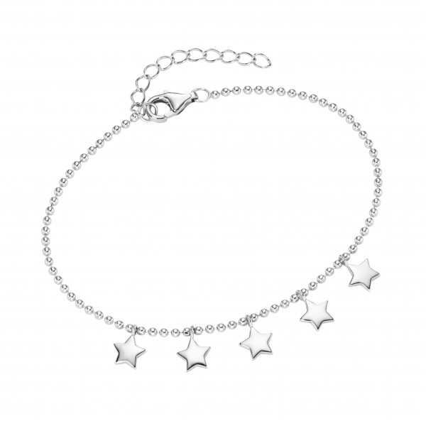 Da-lino Damen Armband in 925er Silber mit Sternen