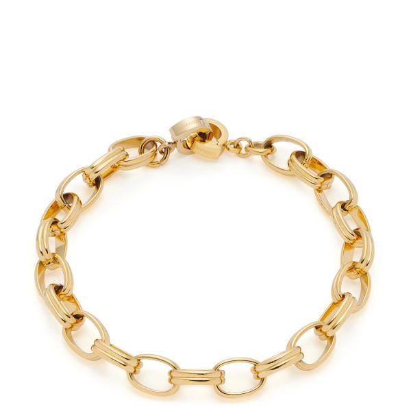 LEONARDO Damen Armband mit Edelstahlgliederung in Gold Odeya