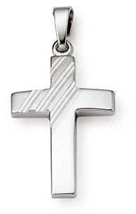 Kreuzanhänger 925 Silber 21mm