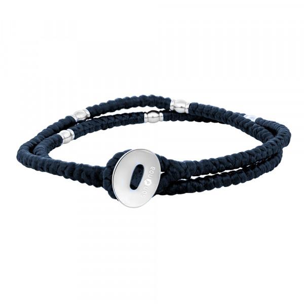 SON Herrenarmband blaue Kordel mit Stahl