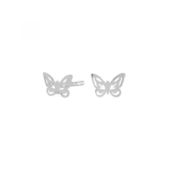 Kinder-Ohrstecker, NOA KIDS JEWELLERY silber rhod. Schmetterling