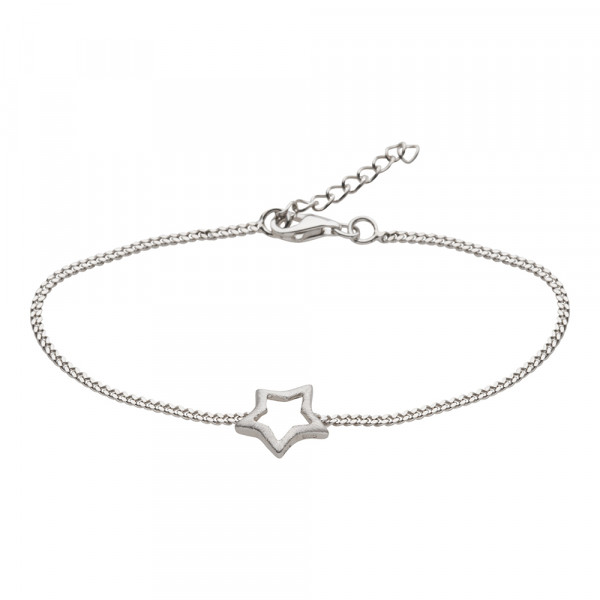 Nordahl Jewellery silber rhodiniertes Armband mit Stern