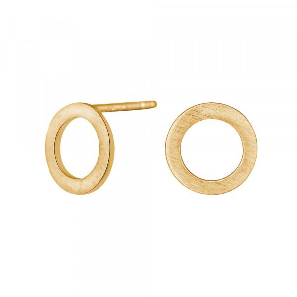 Nordahl Jewellery Damen - Ohrstecker Circle vergoldet