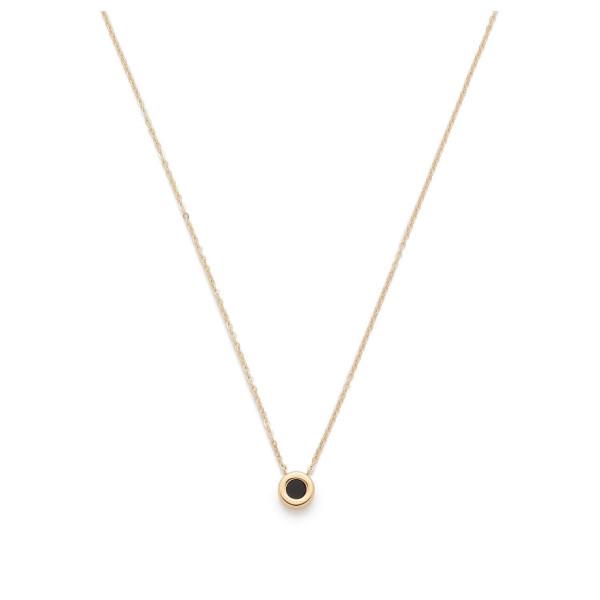 LEONARDO CIAO Damen Halskette Lisetta vergoldet mit Schwarzen Onyx
