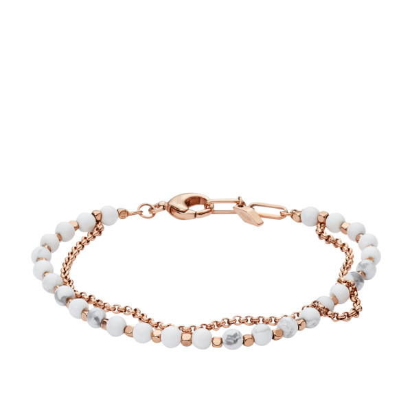 Fossil Damen Armband Multi-Beads Roseégold mit Perlen