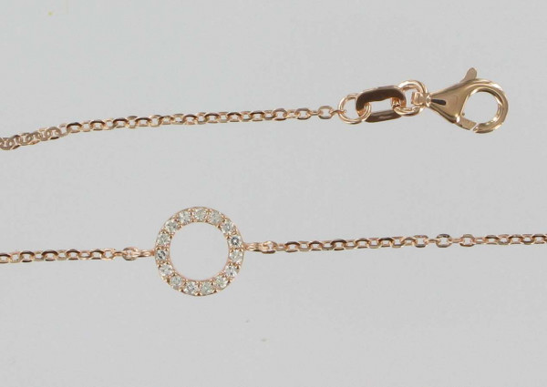 Palido Damen-Armband 585 Rosegold 17cm