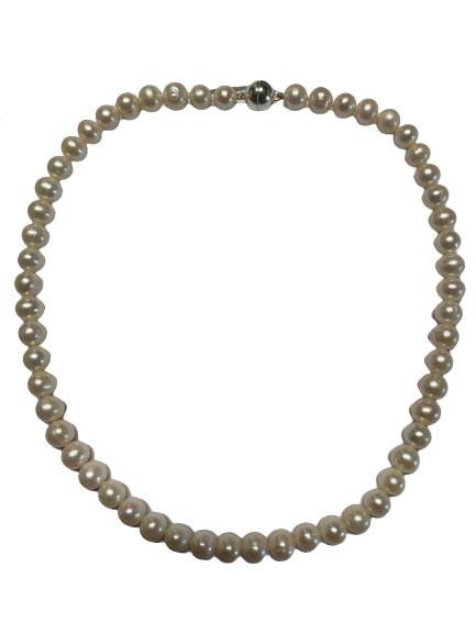 Perlenkette Süßwasserperlen 50cm