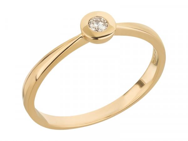 Damen-Ring, DALINO Solitär-Ring 585 Gold mit 0,07 ct Diamanten