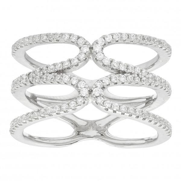 Joanli Nor Damenring Silber rhodinierter Ring