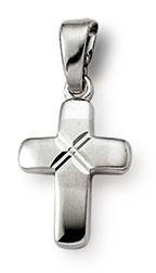 Kreuzanhänger 925 Silber 12mm