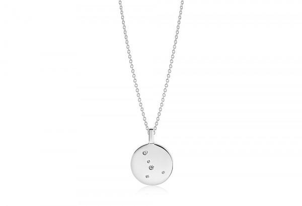 Sif Jakobs Damen Halskette Krebs Sternzeichen Zodiaco 925er Silber mit weißen Zirkonia