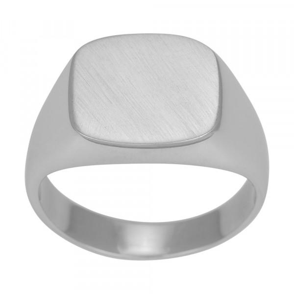 SON of NOA Herren-Ring Ring Silber rhod. gebürstet