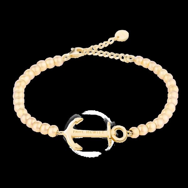 PAUL HEWITT Damen Armband Anchor Spirit In Gold mit Perlen